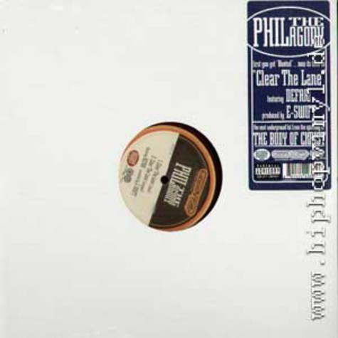 Phil The Agony - Clear the lane