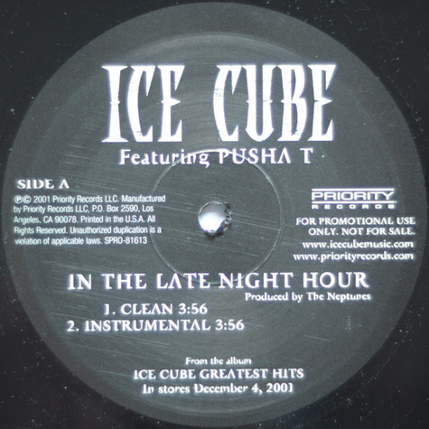 Ice Cube - In the late night hour feat. Pusha T