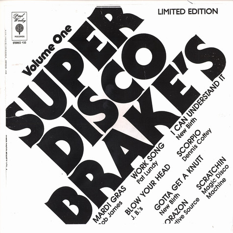 Super Disco Brakes - Volume 1