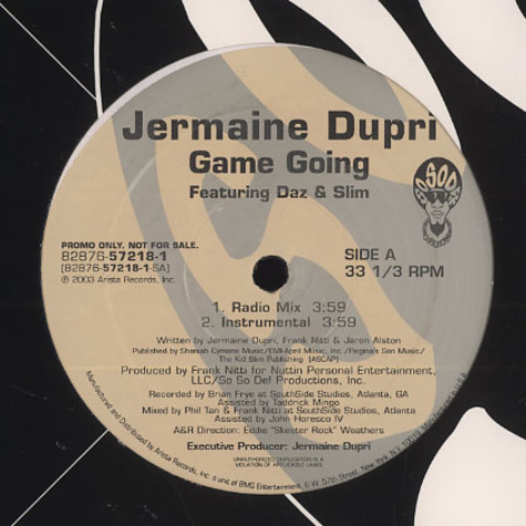 Jermaine Dupri - Game Going Feat. Daz & Slim