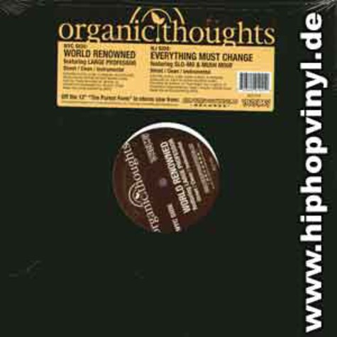 Organic Thoughts - World renowned feat. Large Professor