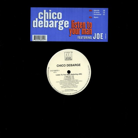 Chico DeBarge - Listen to your man feat. Joe
