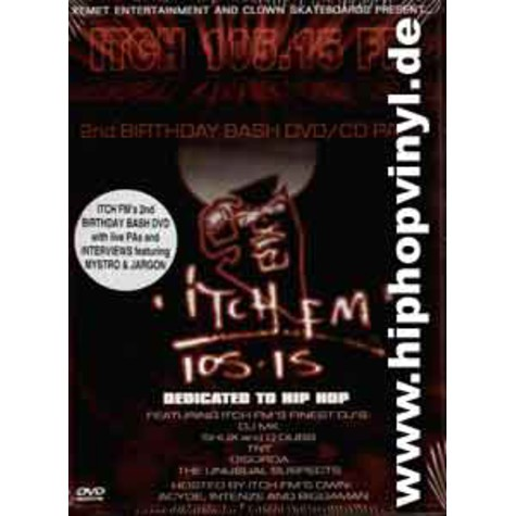 Itch FM - 2nd birthday bash dvd/cd pack