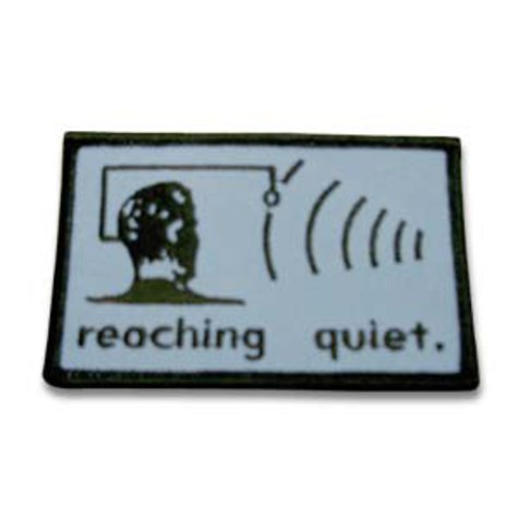 Reaching Quiet - Logo patch