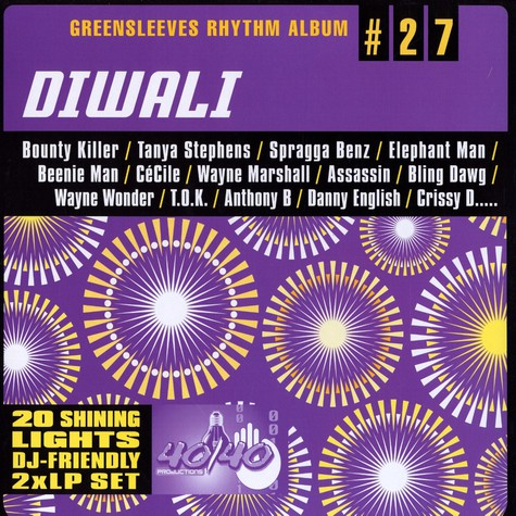 Greensleeves Rhythm Album #27 - Diwali