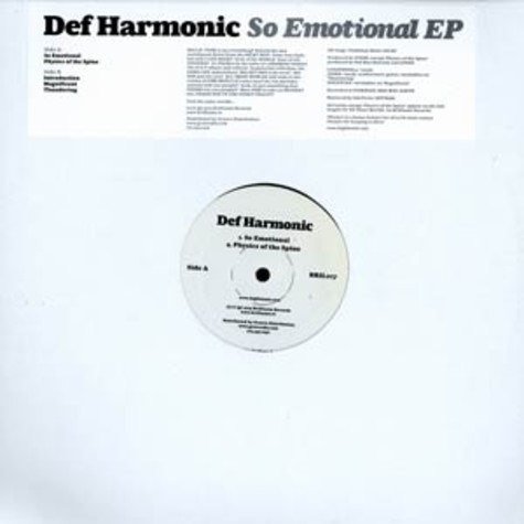 Def Harmonic - So emotional EP