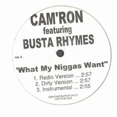 Camron - What my niggas want feat. Busta Rhymes