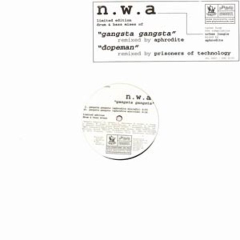 NWA - Gangsta gangsta / dopeman Drum & Bass mixes