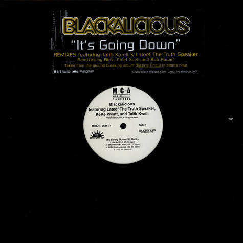 Blackalicious - It's Going Down (Sit Back) Remixes