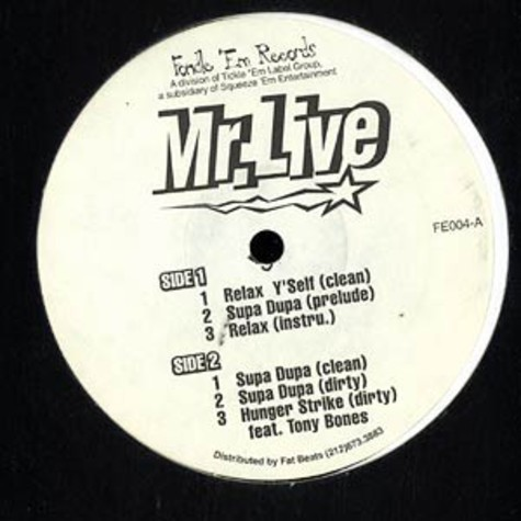 Mr. Live - Relax y'self