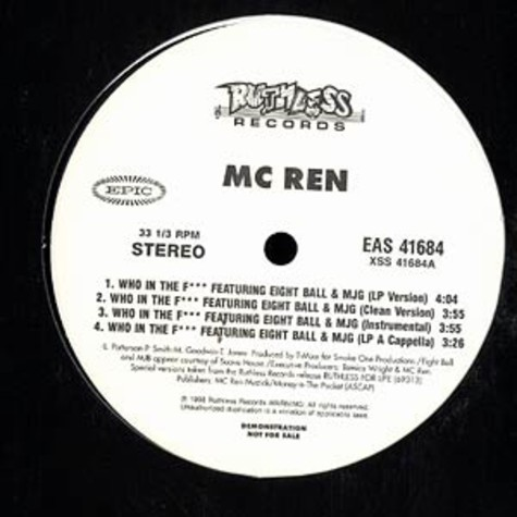 MC Ren - Who In The F***