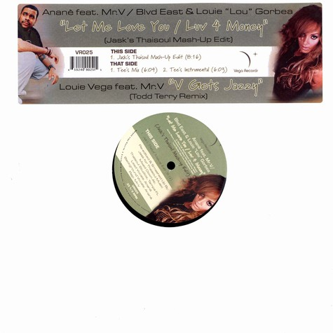 Anane / Louie Vega - Let me love you / v gets jazzy Todd Terry remix