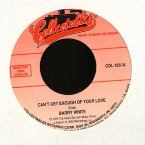 Barry White - Can't get enough of your love