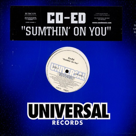 Co-Ed - Sumthin' On You / Roll Wit Me (Remix)