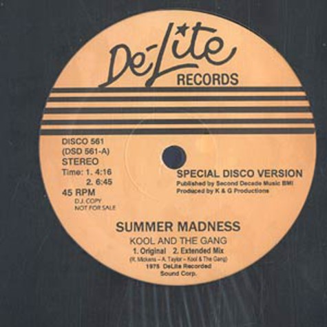 Kool & The Gang - Summer Madness