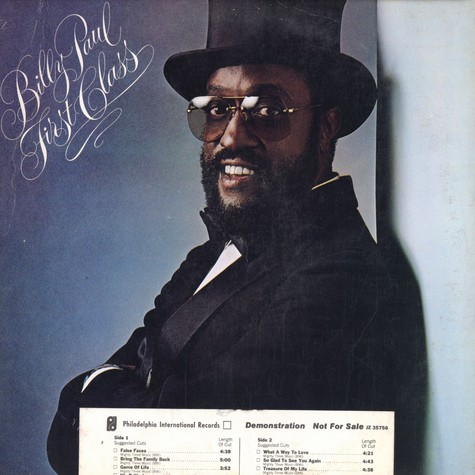 Billy Paul - First class