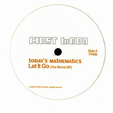 Today's Mathematics - Let it go remix EP
