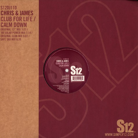 Chris & James - Club for life