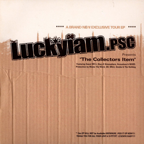 Luckyiam.PSC - The Collectors Item