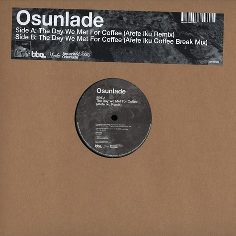 Osunlade - The day we met for coffee Afefe Iku remix