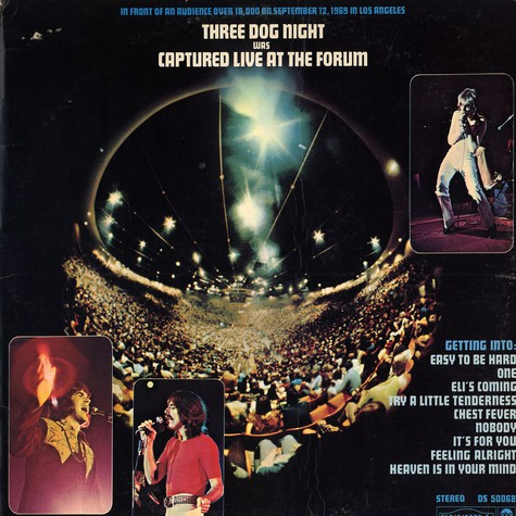 Three Dog Night - Three Dog Night was captured live at the forum