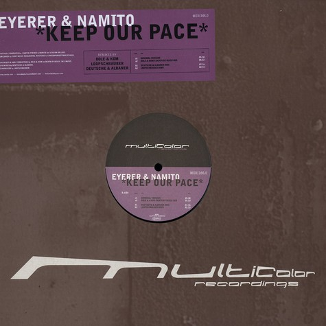 Eyerer & Namito - Keep our pace