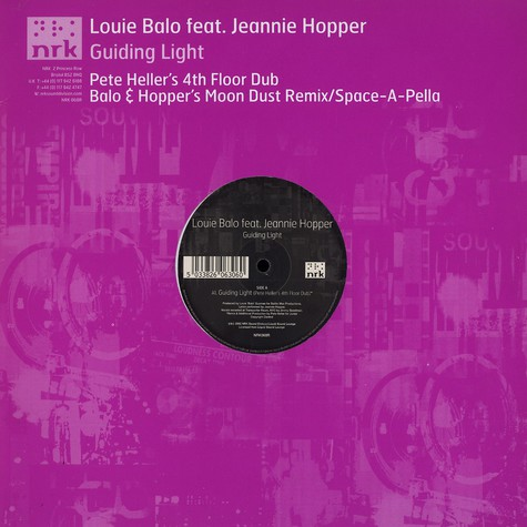 Louie Balo - Guiding light Pete Heller's 4th floor dub feat. Jeannie Hopper