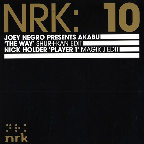 Joey Negro presents Akabu - The way Shur-I-Kan edit