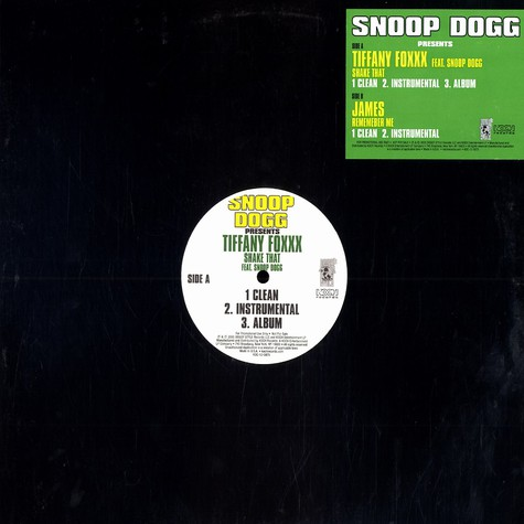 Snoop Dogg presents Tiffany Foxxx & James - Shake that feat. Snoop Dogg / remember me
