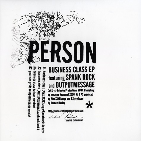 Person - Business class