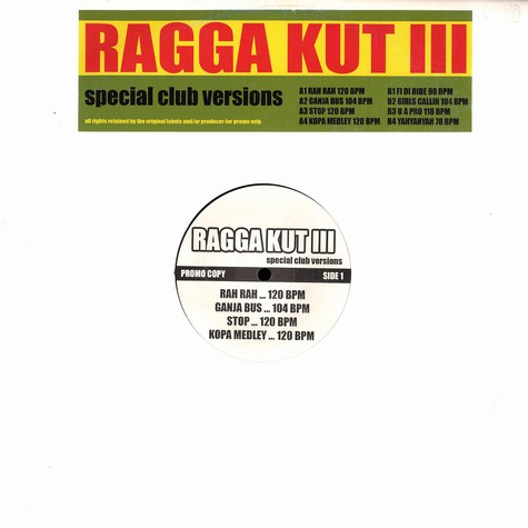 DJ Antar presents - Ragga kut 3 - club versions