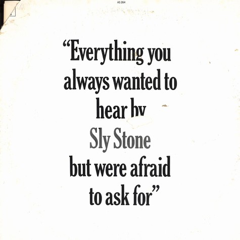 Sly Stone - Everything you always wanted to hear by Sly Stone but were afraid to ask for