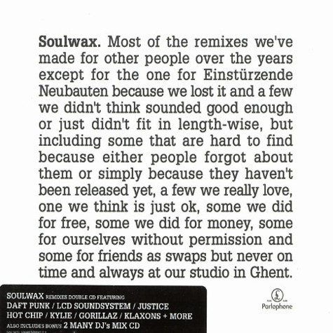 Soulwax - Most of the remixes limited edition