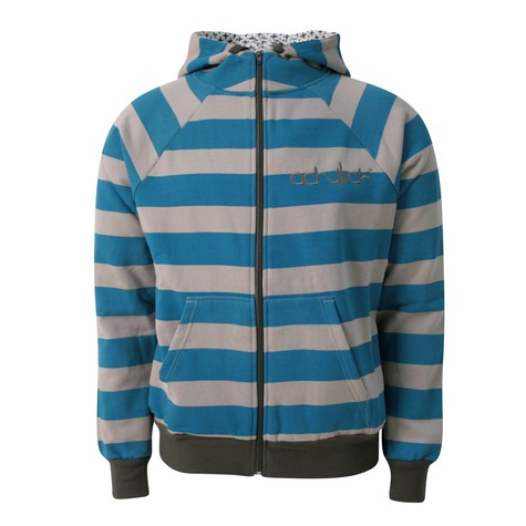 Acrylick - Striped zip-up hoodie