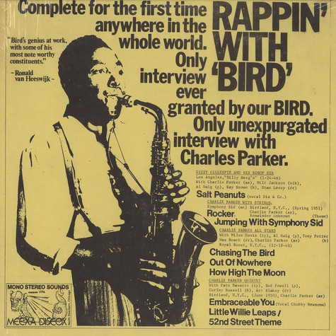Charlie Parker - Rappin with bird