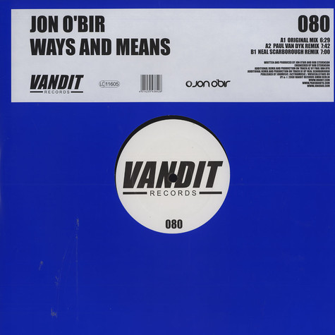 Jon O'Bir - Ways and means