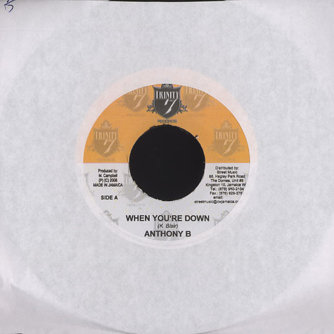 Anthony B / D Major - When you're down / can't get enough of your love