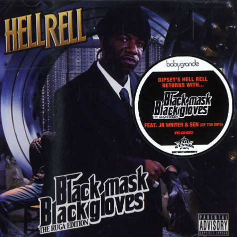 Hell Rell - Black mask black gloves