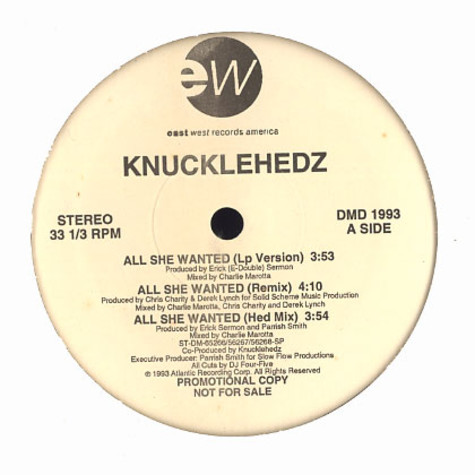 Knucklehedz - All She Wanted / Hed Rush