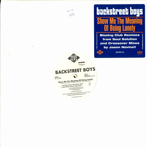 Backstreet Boys - Show me the meaning of beeing lonely