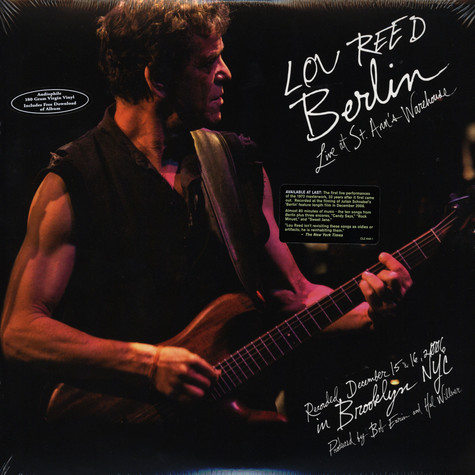 Lou Reed - Berlin - live at St.Ann's warehouse