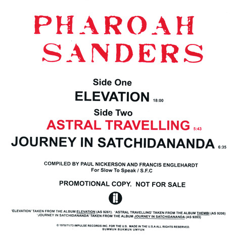 Pharoah Sanders - Elevation