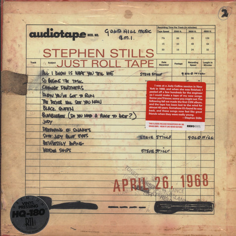 Stephen Stills - Just roll tape April 26, 1968