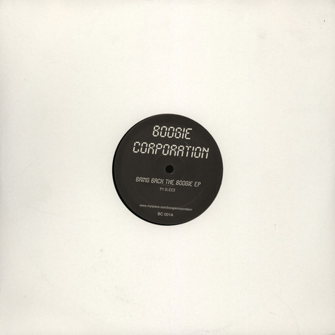 Boogie Corporation - Bring back the boogie EP