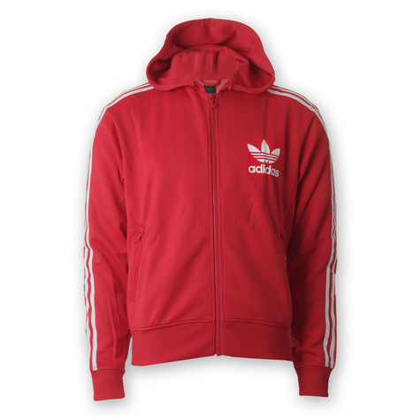 adidas - Hooded Flock Logo Track Top