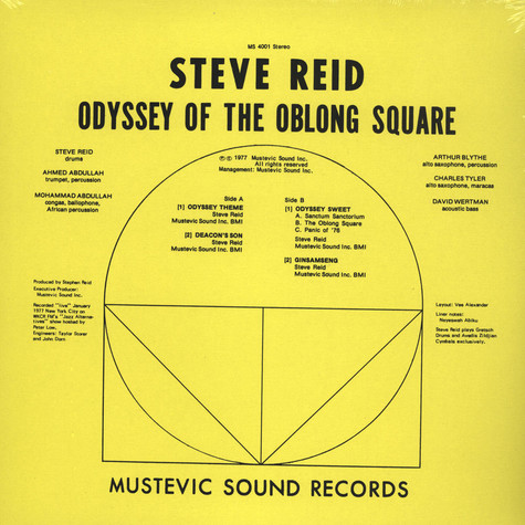 Steve Reid And The Master Brotherhood - Odyssey Of The Oblong Square