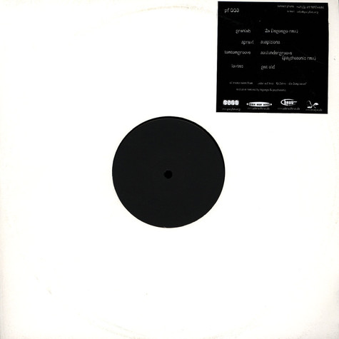 Granlab / Sprawl / TomTomGroove / Lowtec - 2A / Suspicions / Soulundergroove / Get Old