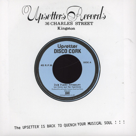 Lee Perry & The Upsetters - Dub Plate Pressure
