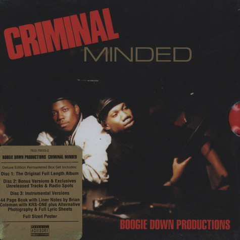 Boogie Down Productions - Criminal Minded Elite Edition