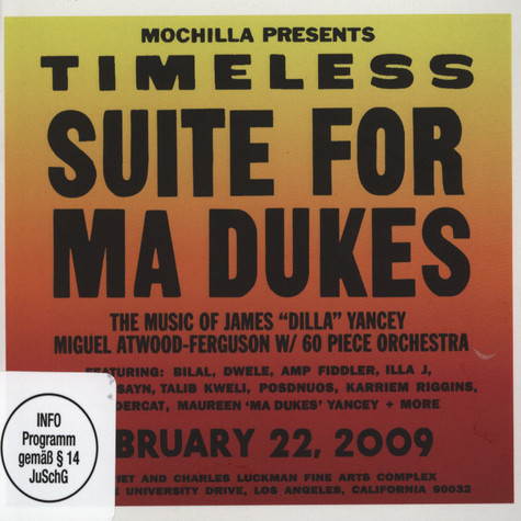 J Dilla aka Jay Dee - Mochilla Presents Timeless: Suite For Ma Dukes